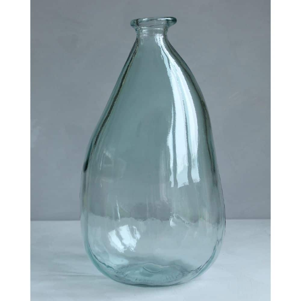 Grote Vaas Glas.Grote Vaas Van Recycled Glas